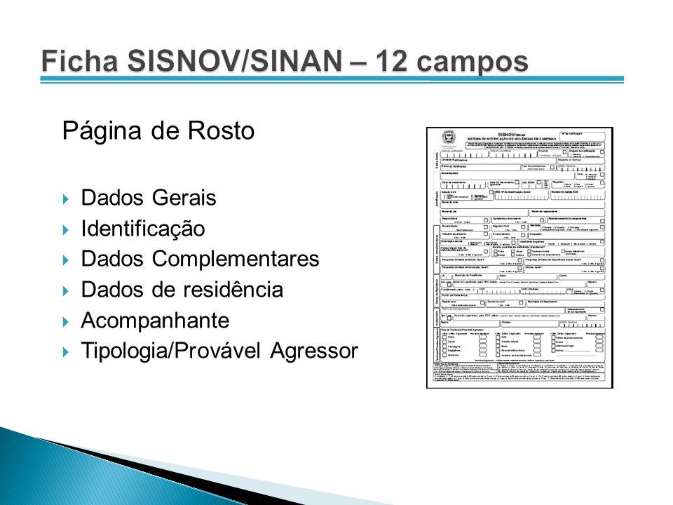 Ficha SISNOV/SINAN – 12 campos