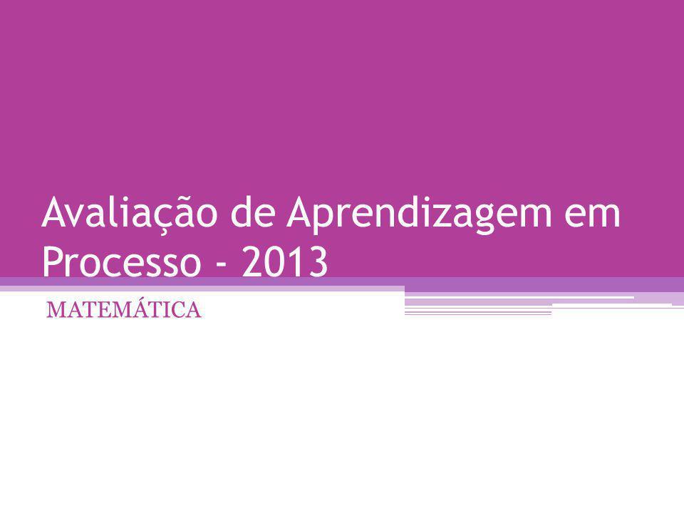 Avaliação de Aprendizagem em Processo - 2013