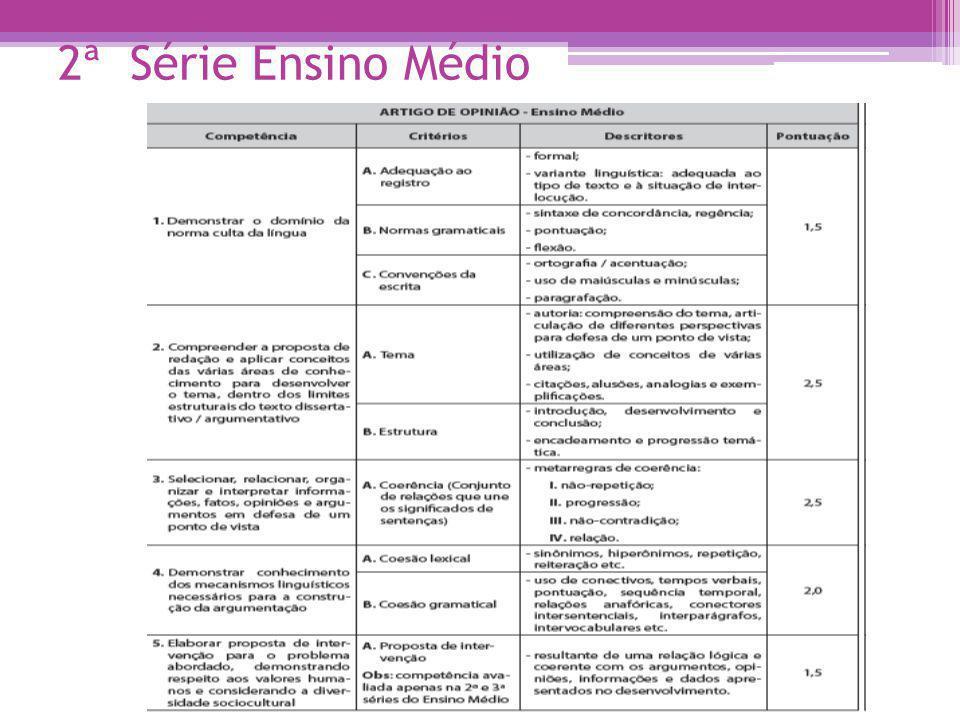 2ª Série Ensino Médio