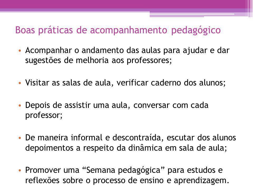 Boas práticas de acompanhamento pedagógico