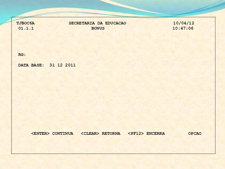 TJBOC6A SECRETARIA DA EDUCACAO 10/04/12