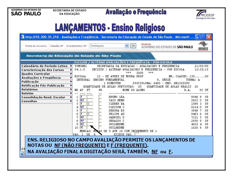 LANÇAMENTOS - Ensino Religioso