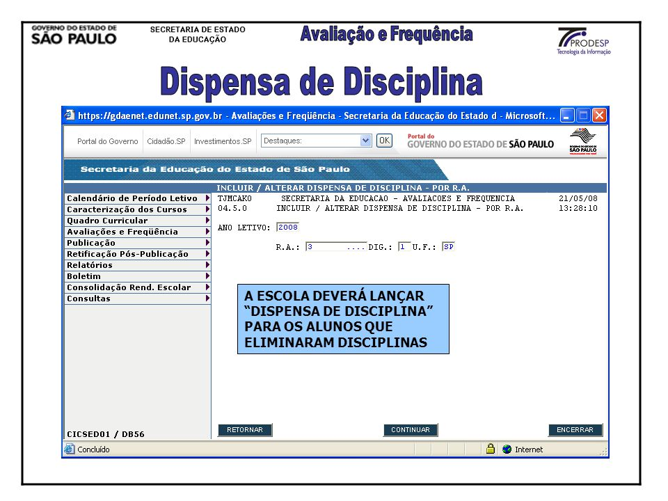 Dispensa de Disciplina