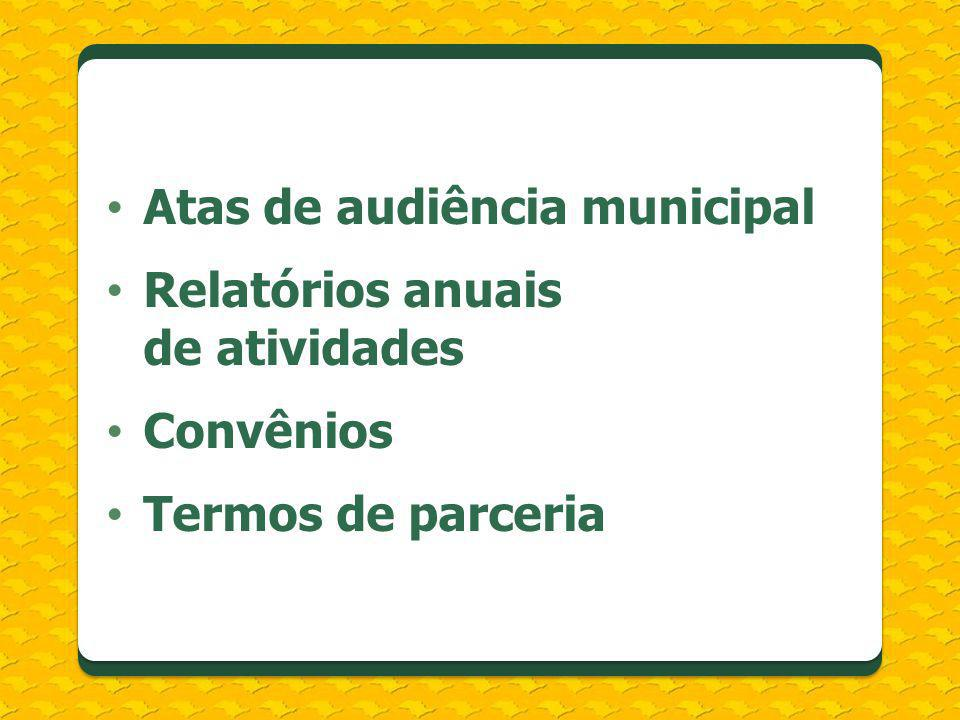 Atas de audiência municipal