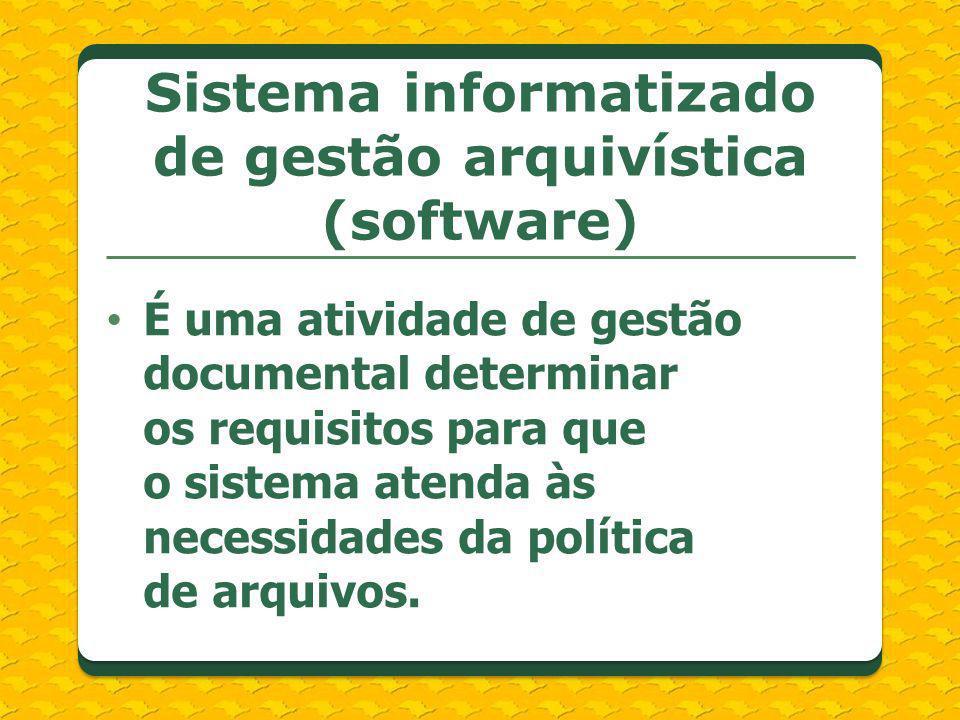 Sistema informatizado de gestão arquivística (software)