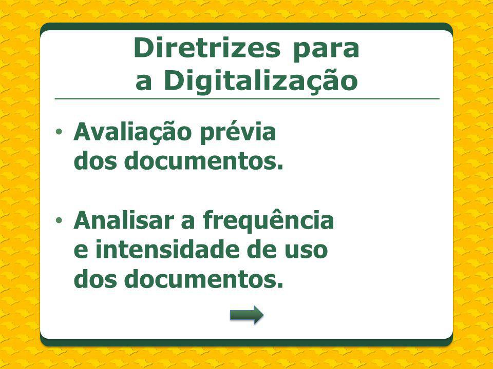 Diretrizes para a Digitalização