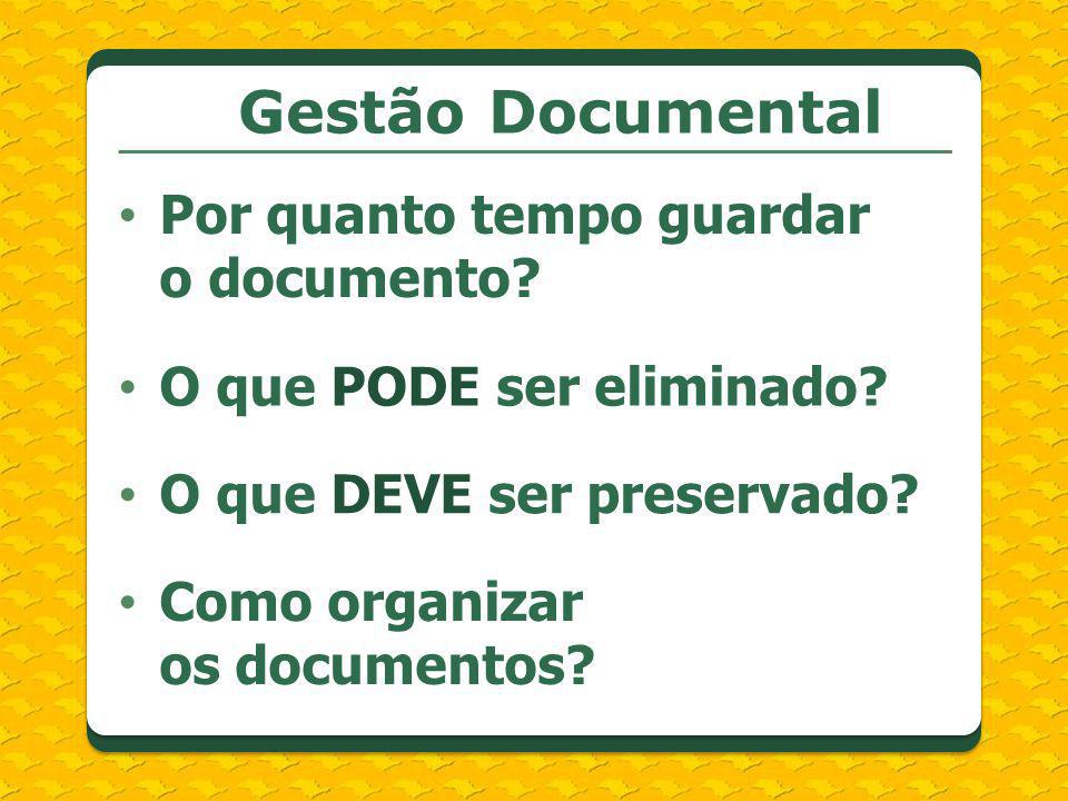 Gestão Documental Por quanto tempo guardar o documento