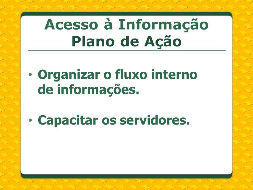 Acesso à Informação Plano de Ação