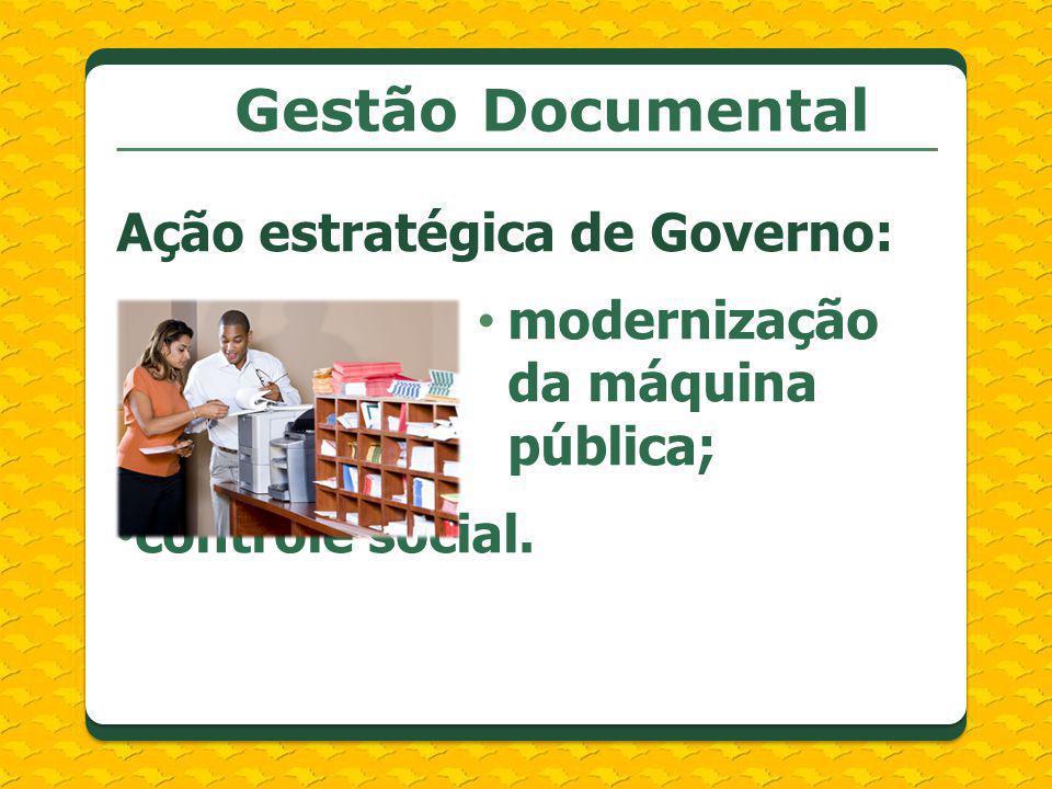 Gestão Documental Ação estratégica de Governo: