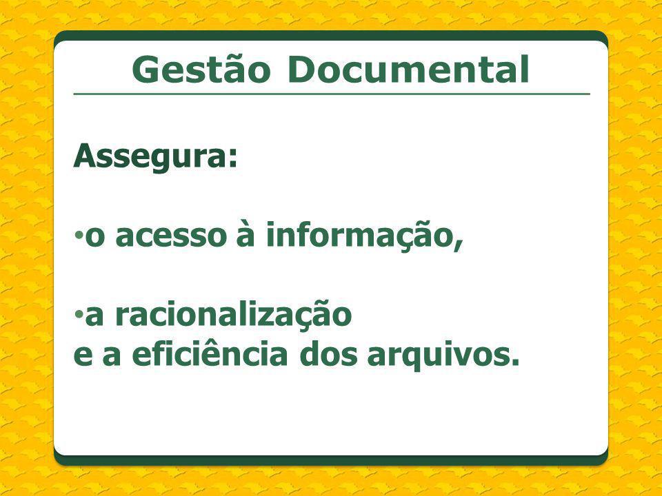Gestão Documental Assegura: o acesso à informação,
