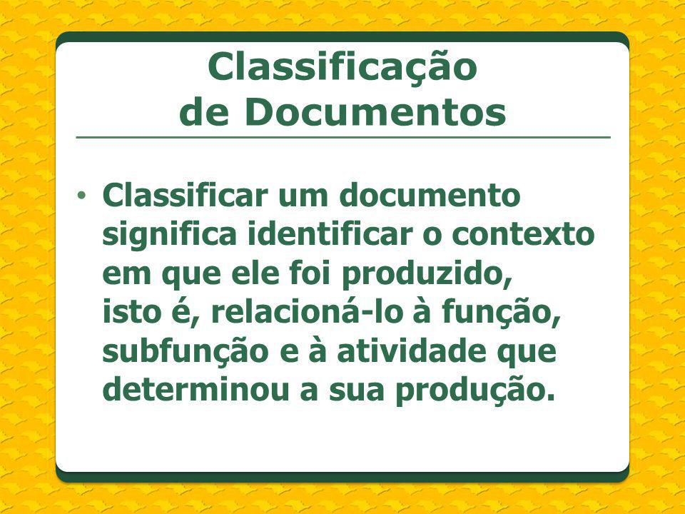 Classificação de Documentos