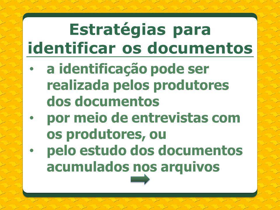 Estratégias para identificar os documentos