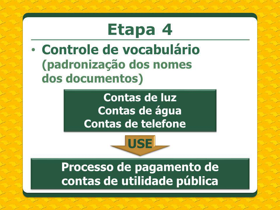 Processo de pagamento de contas de utilidade pública