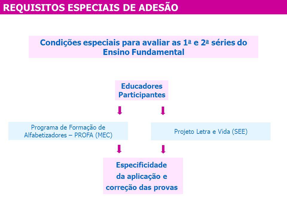 REQUISITOS ESPECIAIS DE ADESÃO