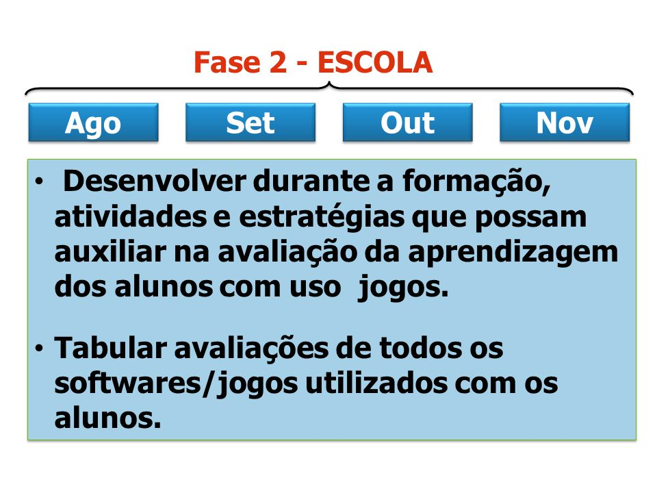Ago Set. Out. Nov. Fase 2 - ESCOLA.