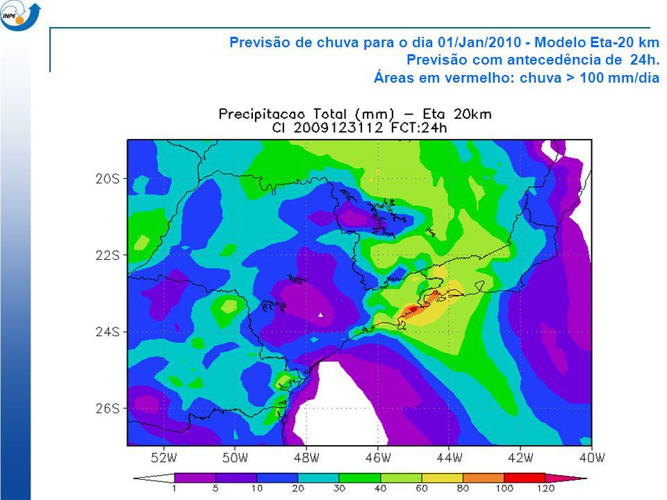 Previsão de chuva para o dia 01/Jan/2010 - Modelo Eta-20 km