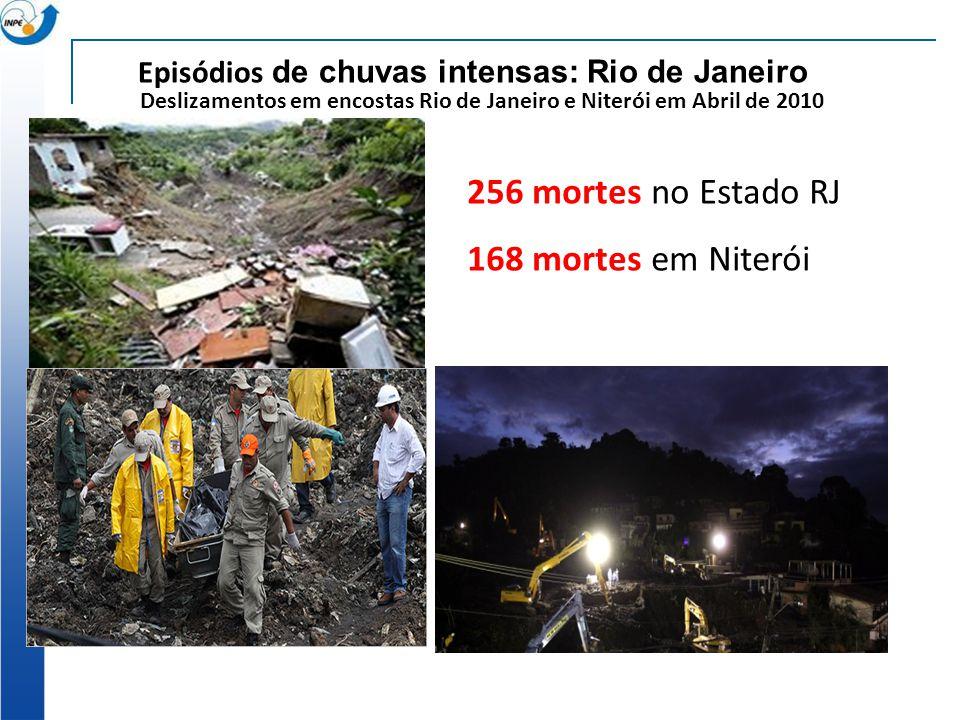 256 mortes no Estado RJ 168 mortes em Niterói