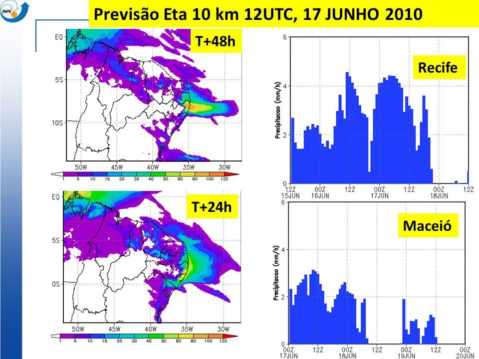 Previsão Eta 10 km 12UTC, 17 JUNHO 2010