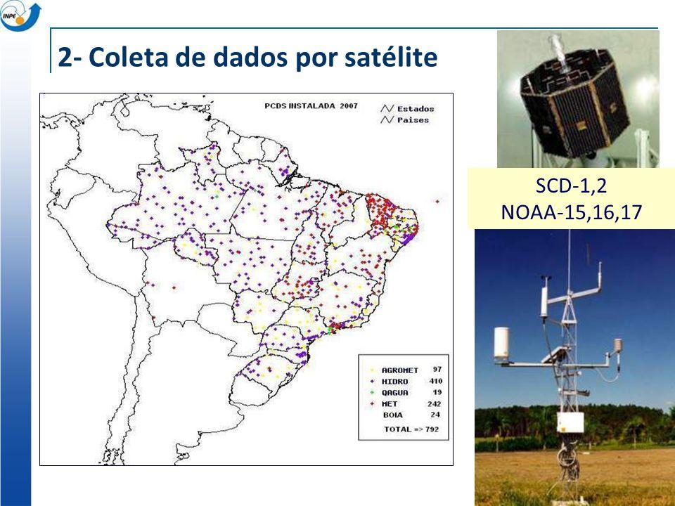 2- Coleta de dados por satélite