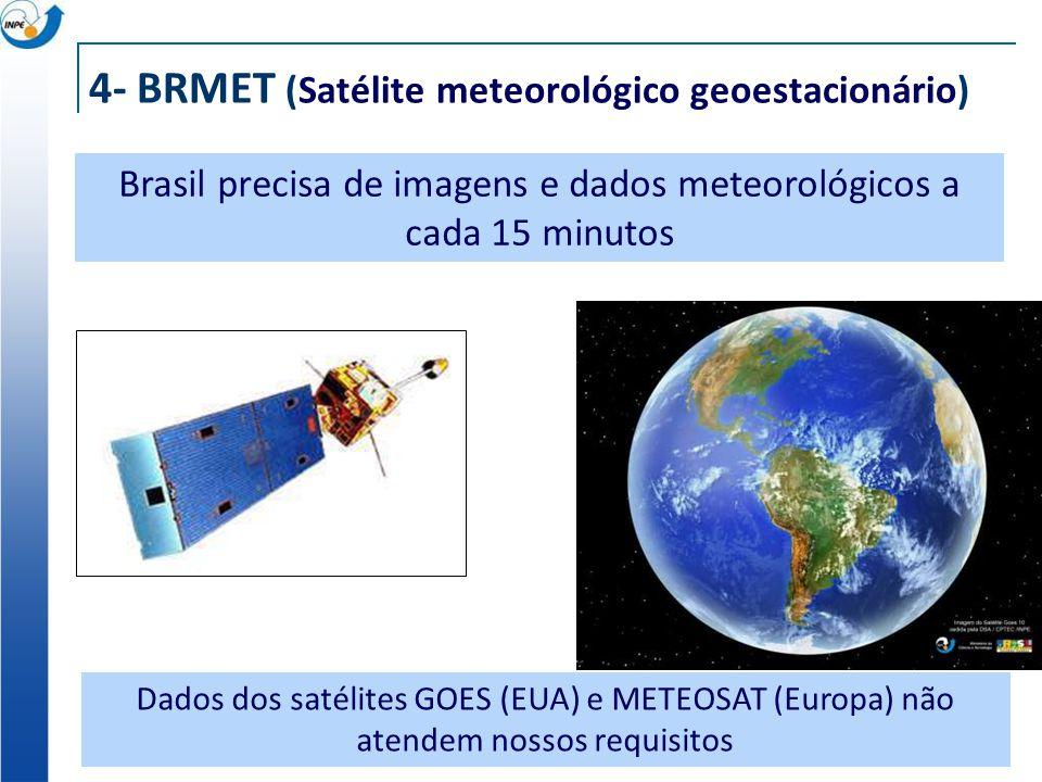 4- BRMET (Satélite meteorológico geoestacionário)
