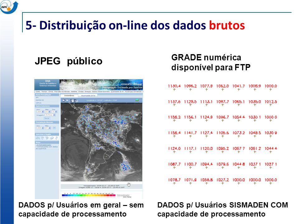5- Distribuição on-line dos dados brutos