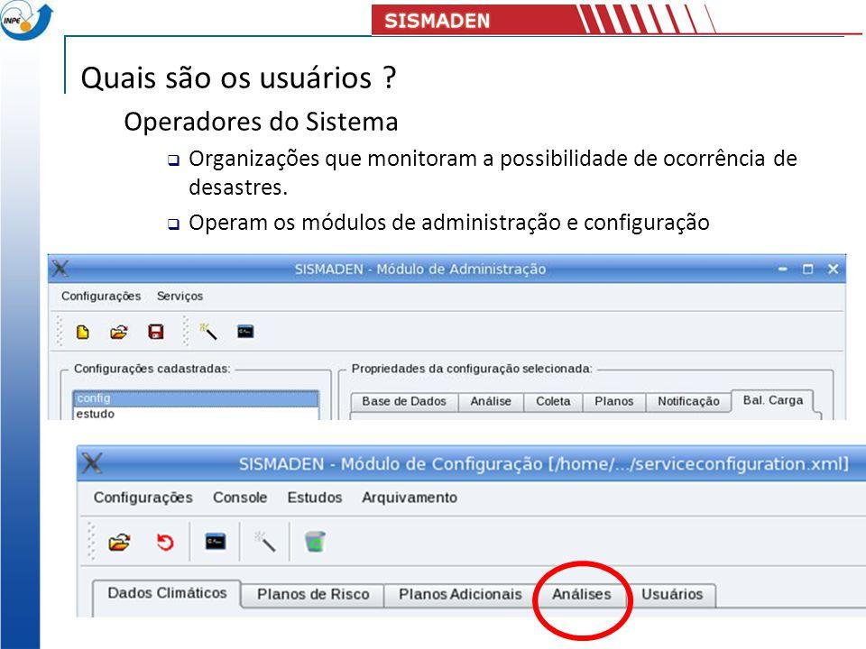 Quais são os usuários Operadores do Sistema