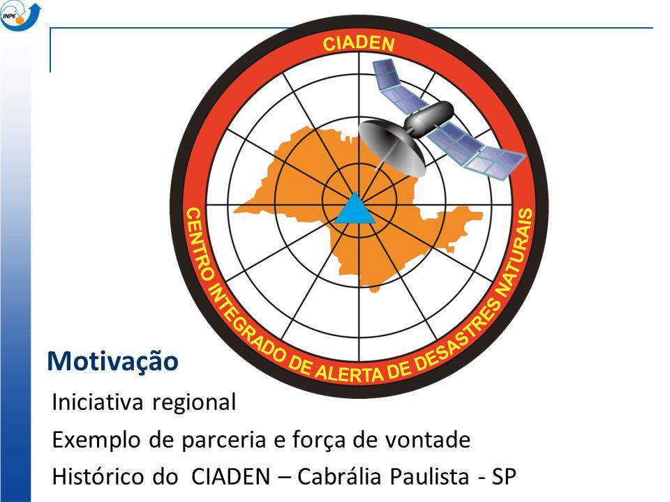 Motivação Iniciativa regional Exemplo de parceria e força de vontade Histórico do CIADEN – Cabrália Paulista - SP