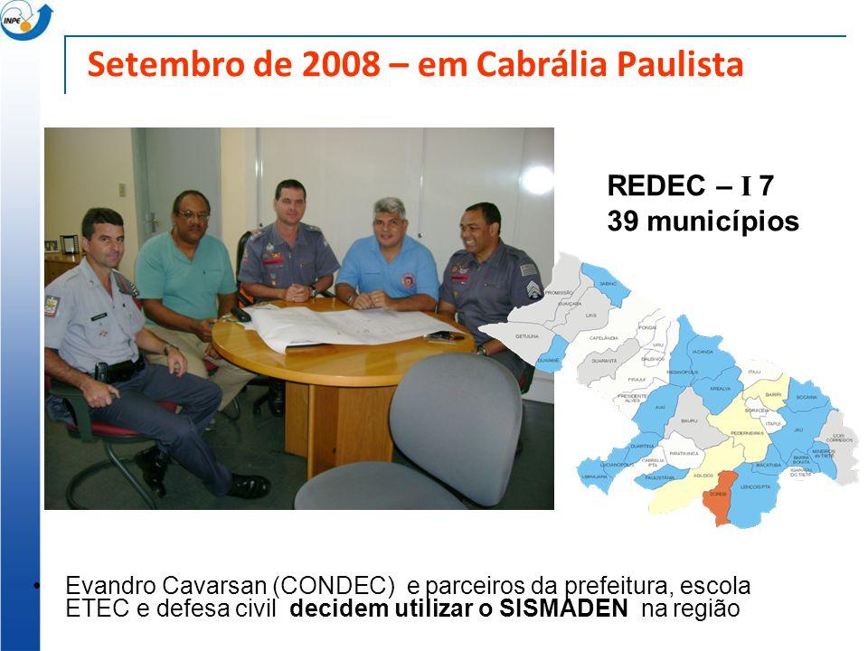 Setembro de 2008 – em Cabrália Paulista