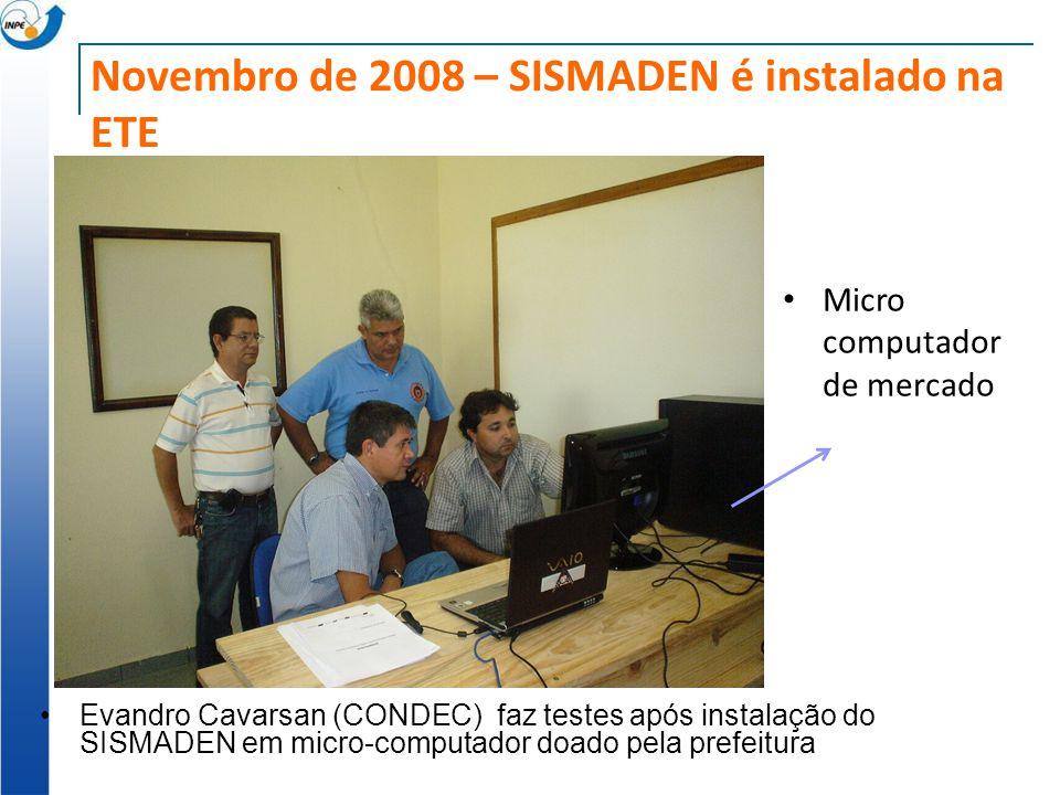 Novembro de 2008 – SISMADEN é instalado na ETE