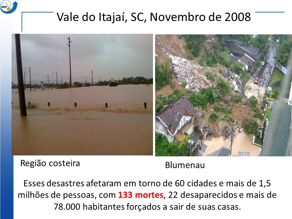 Vale do Itajaí, SC, Novembro de 2008
