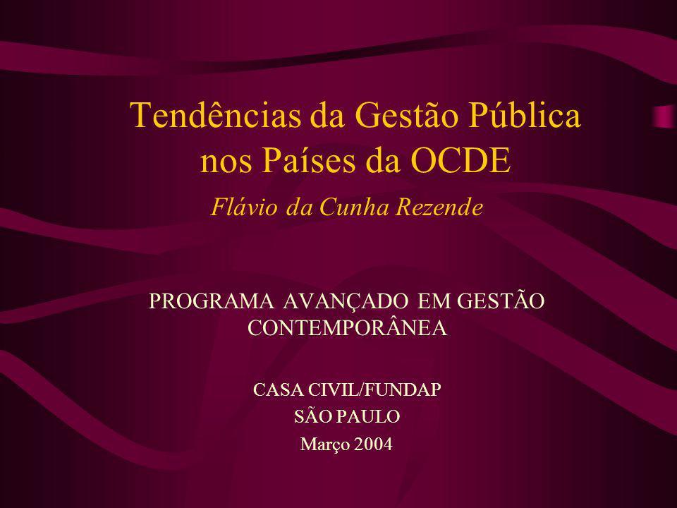 Tendências da Gestão Pública nos Países da OCDE