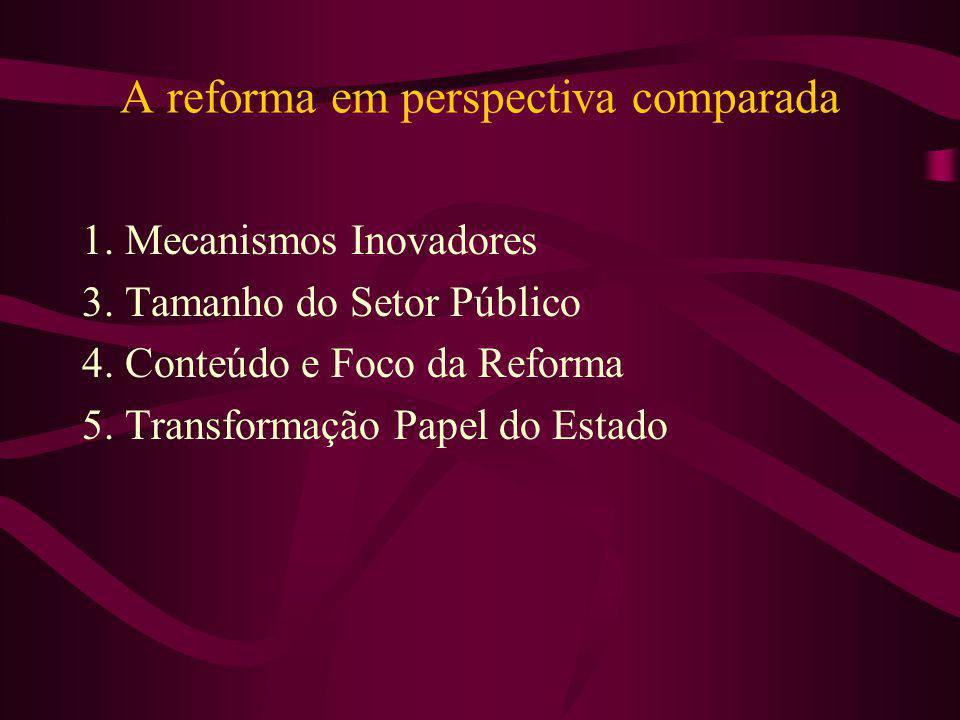 A reforma em perspectiva comparada
