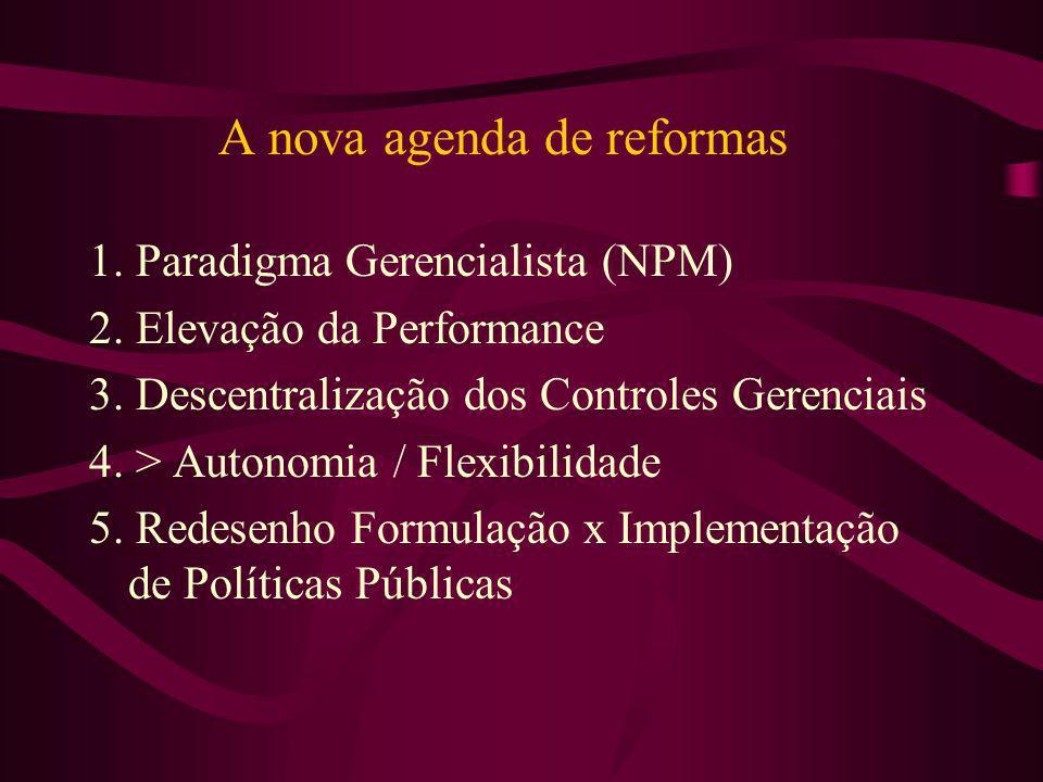 A nova agenda de reformas