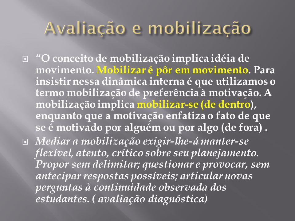 Avaliação e mobilização