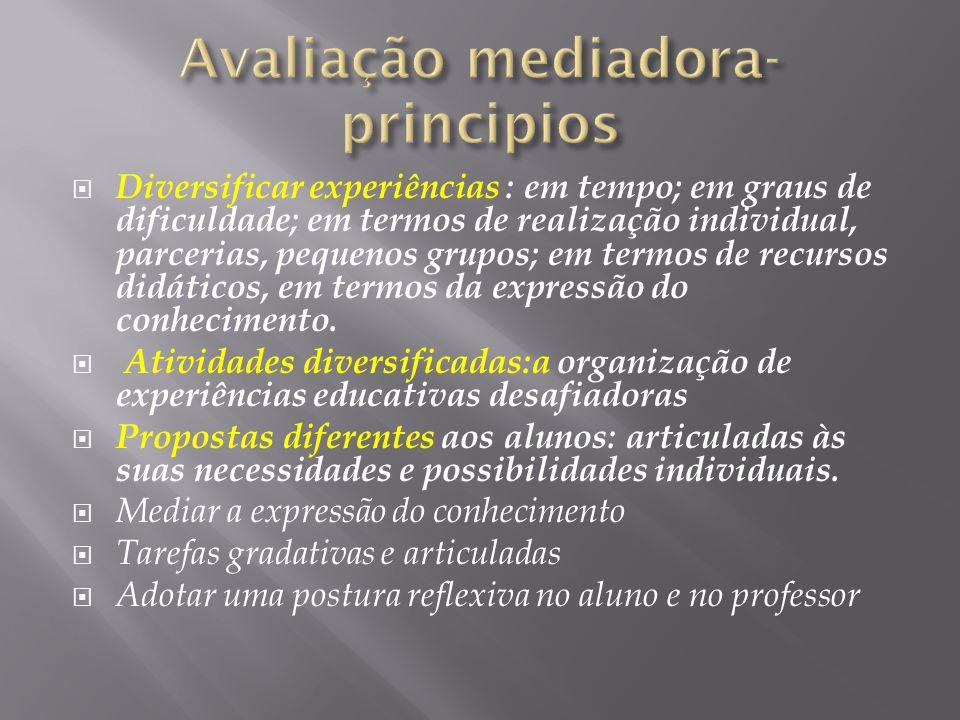 Avaliação mediadora- principios