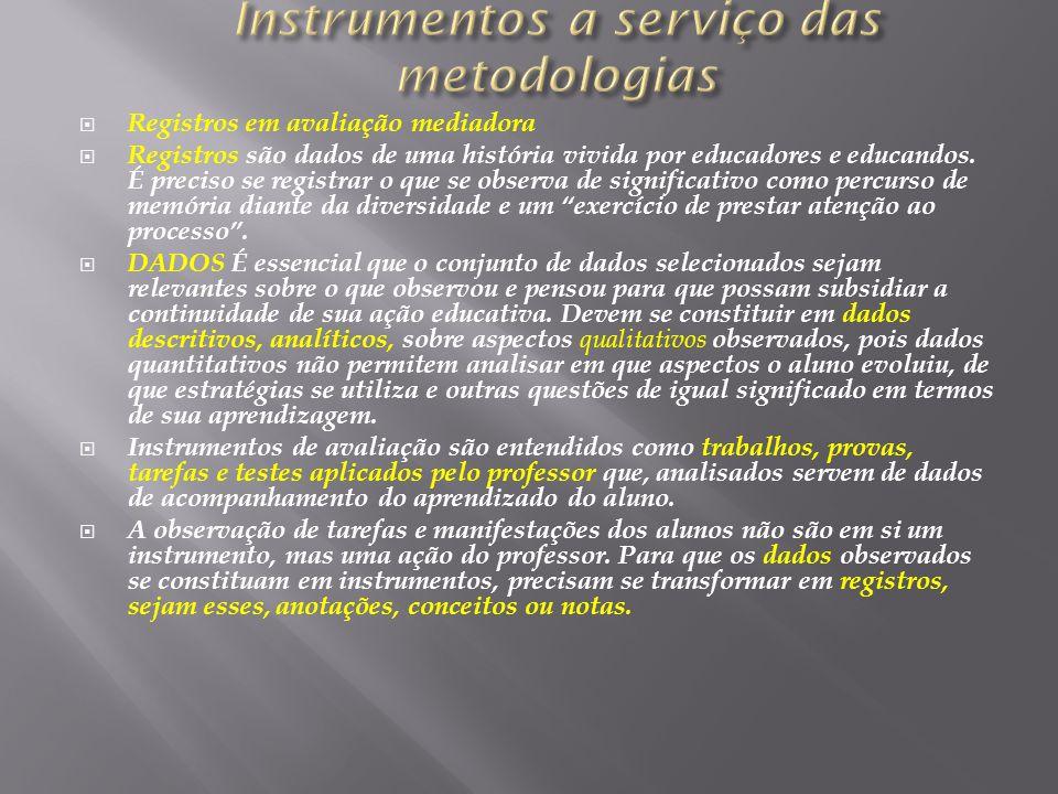 Instrumentos a serviço das metodologias