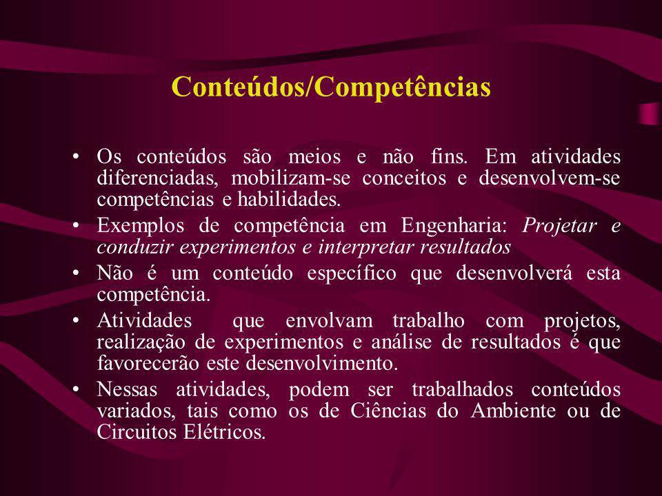 Conteúdos/Competências