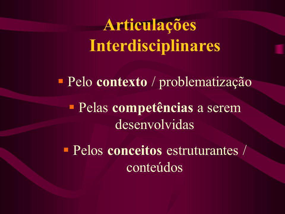 Articulações Interdisciplinares