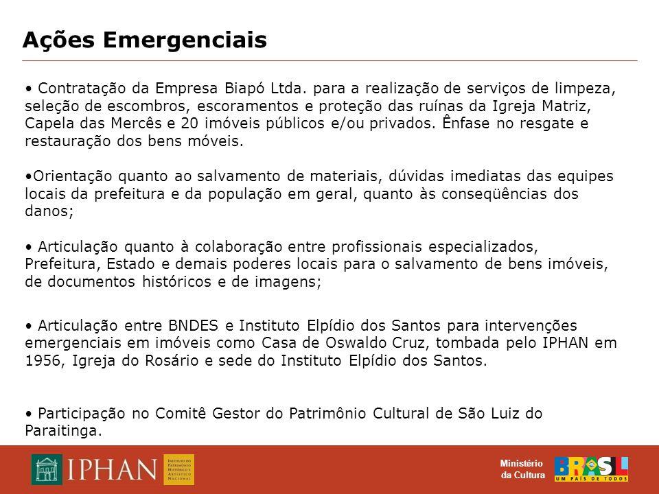 Ações Emergenciais