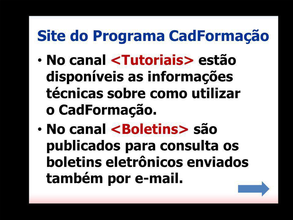 Site do Programa CadFormação