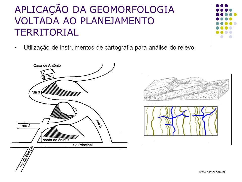 APLICAÇÃO DA GEOMORFOLOGIA VOLTADA AO PLANEJAMENTO TERRITORIAL