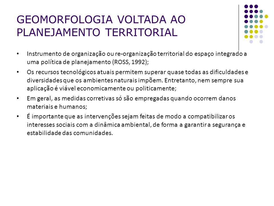 GEOMORFOLOGIA VOLTADA AO PLANEJAMENTO TERRITORIAL
