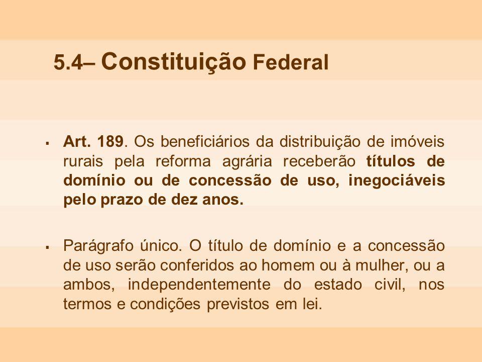 5.4– Constituição Federal