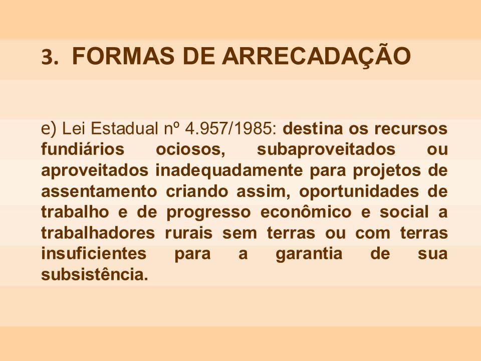 3. FORMAS DE ARRECADAÇÃO