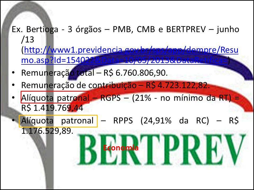 Remuneração de contribuição – R$ 4.723.122,82.