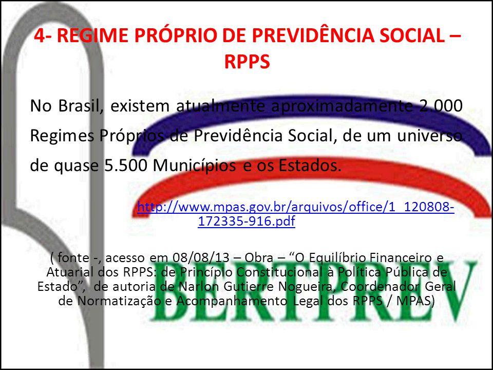 4- REGIME PRÓPRIO DE PREVIDÊNCIA SOCIAL – RPPS