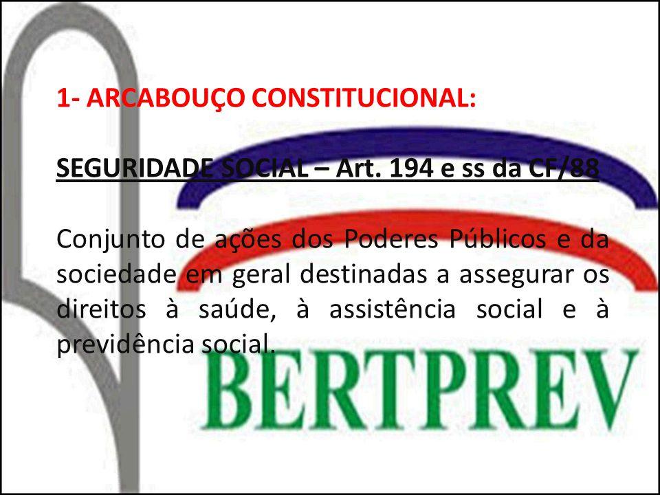 1- ARCABOUÇO CONSTITUCIONAL: