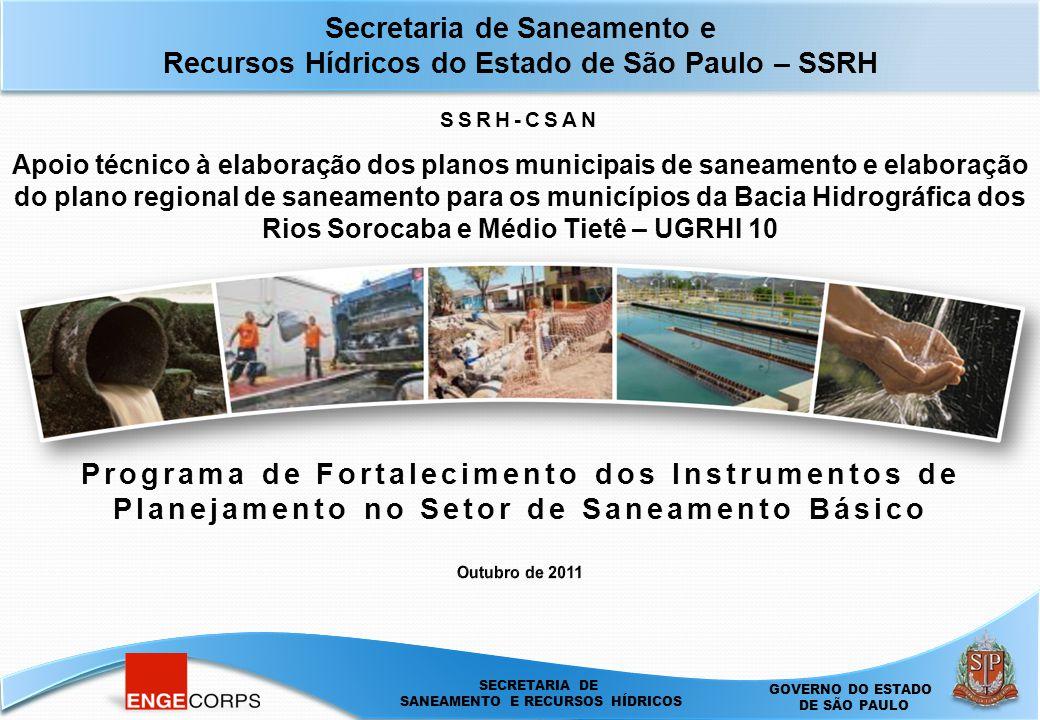 Secretaria de Saneamento e Recursos Hídricos do Estado de São Paulo – SSRH