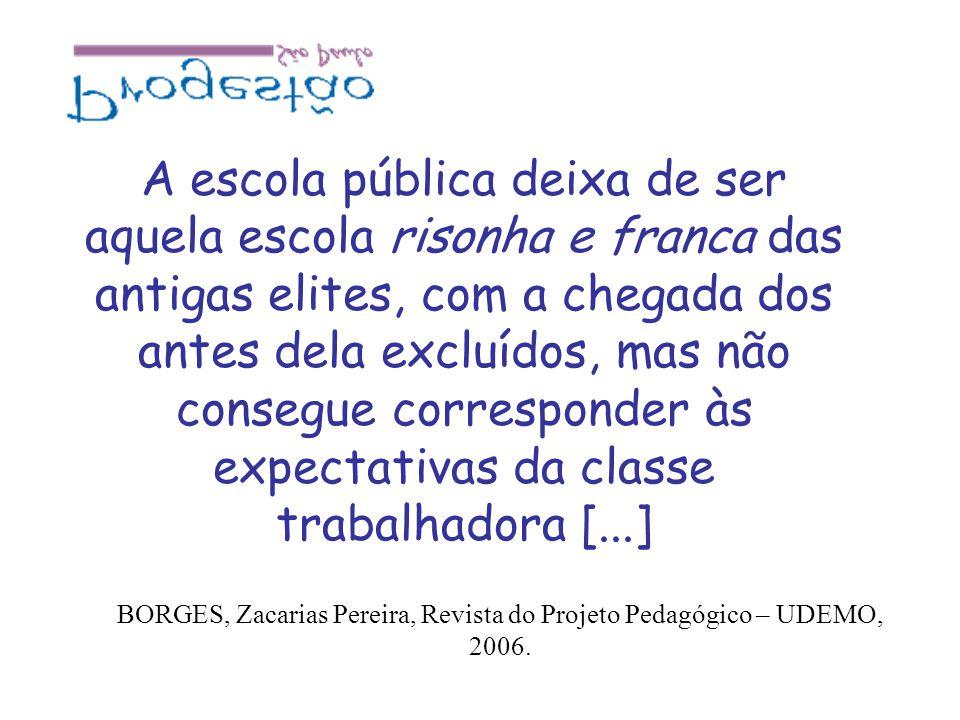 BORGES, Zacarias Pereira, Revista do Projeto Pedagógico – UDEMO, 2006.