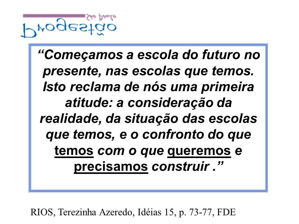 Começamos a escola do futuro no presente, nas escolas que temos